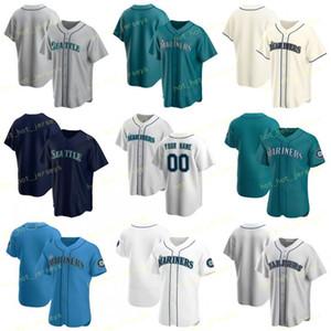 Custom Name 7 Andrew Romine 2020 Baseball Jersey 2 JP Crawford 4 Denard Span 27 Ryon Healy 1 Tim Beckham 32 Jay Bruce 0 Mallex Smith