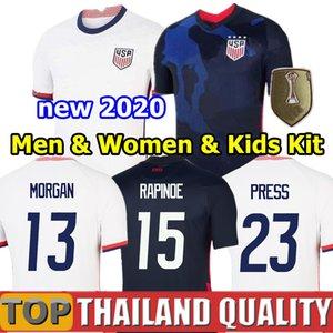 4 звезды Чемпионат мира 2020 Копа Америка футбольные майки Lavelle USA ЛЛОЙД РАПИНОЕ КРИГЕР Соединенные Штаты Футболка мужчины женщины детский комплект единообразный