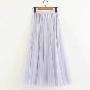 Etnik Giyim KLV Polyester Etekler Kadın Pileli Etek Büyük Sarkaç Kod Gösterisi Ince Joker Beach Fairy Uzun Tutu Net Bırak 3.29