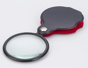 Portable Mini Black 50mm 8x Hand-Hold Reading Magnifying Magnifier Lens Glass Foldable Jewelry Loop Jewelry Loupes