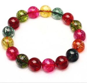 Dettagli su Fashion Natural 10mm Multicolor Dragon Veins Agata rotonda gemme bracciale elastico