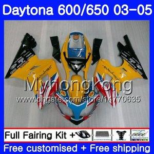 Carrozzeria giallo caldo per Triumph Daytona600 Daytona 650 600 02 03 04 05 321HM.9 Daytona650 Daytona 600 2002 2003 2004 2005 Kit carenatura