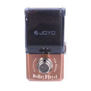 altın konektör ve MOOER düğmesiyle Joyo JF-321 IRONMAN Mini Pedal Bullet Metal Dostortion Etkisi gitar Pedallı