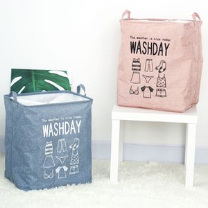 Large Capacity Laundry Hamper Cotton Linen Clothes Storage Baskets Foldable Baby Toys Storage Bags Container Wardrobe Organizer