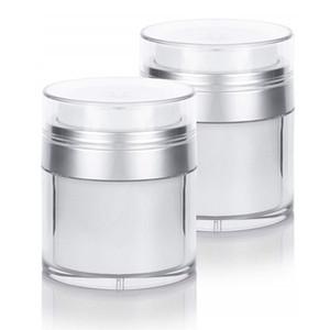 15g 30g 50g Doppelschicht Airless Gesichtscreme Topf Leere Kosmetische Weiße cMask / Eye Sub Abfüllung Nachfüllbarer Behälter
