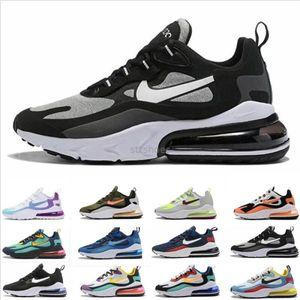 Nike Air Max 270 V2 2020 i più nuovi 270 V2 Reagire Nightlight impermeabile Designer Running Shoes 270 V2 Reagire Airmattress assorbimento degli shock tennis casuali