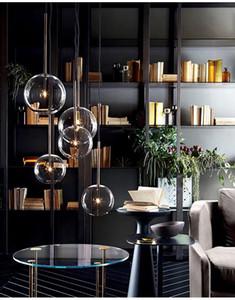 Yaratıcı kişilik cam bilye, modern led tavan ışıkları aydınlatma kaliteli yatak yemek odası ev dekorasyon avize