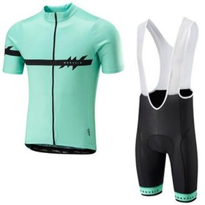 2020 Mens Team Morvelo Summer Cycling Short Sleeve Jersey Bib Shorts Suit Bike Clothing High Quality Racing Bicycle Clothing Y032506