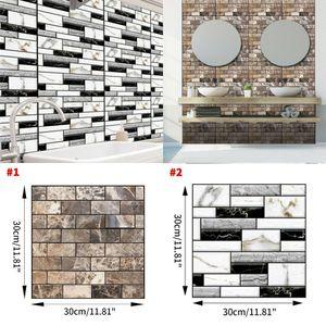 Çıkarılabilir 1PC Köpük PE Tuğla Taş Duvar Kapak 3D DIY Çıkartma Ev Ofis Dekorasyonu