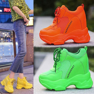 Increased women's shoes 2020 tide shoes spring and autumn new net red super fire old shoes thick bottom casual sports