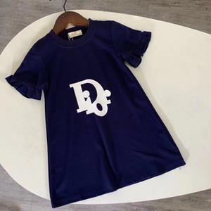 새로운 도착 포쉬 여자는 주름 편지 쓰기 인쇄 아이 여자 옷을 드레스