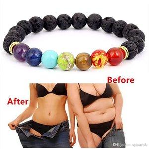 Turquoise Buddha Bless Lose Weight Chakra Bracelet Black Lava Healing Balance Beads Reiki Buddha Prayer Natural Stone Bracelet For Women