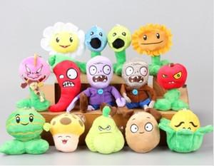 """Novas 5"""" Plants vs Zombies Soft Toy Plush com otário Um total de 1 set 14 pcs"""