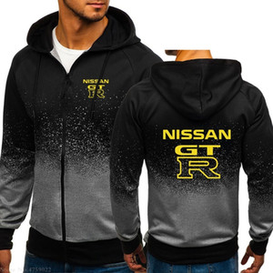 Men's Hoodie Top Winter Autumn New Style Long Sleeves yellow Nissan GT-R GTR Sweatshirt for male 3 colours jackets