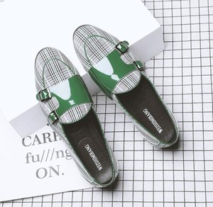 2020 Men's classic monk strap slip-on flats gentleman Shoes Man Wedding Homecoming Evening Prom shoes Sapato Social Masculinon