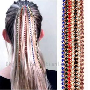 Cadena Hombres Mujeres Moda Accesorios para el cabello de la peluca de extensión de alta calidad de la Garra Cadenas de joyería del diamante del metal Cadenas cadena de clip de pelo