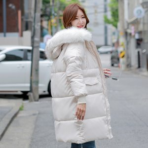 Women's Down & Parkas 2021 Version Loose Medium Length Thickened Cotton Clothes Female Temperament Warm Parka Winter