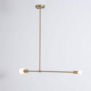 Metal Light Faixa Pendant Black Gold Modern Suspension Chandelier Início Sala Teto lâmpada Fixture PA0298