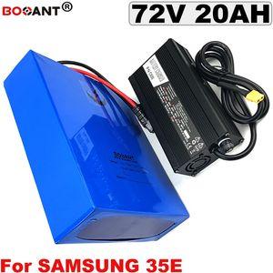 72 볼트 20ah 1500 와트 3000 와트 전자 자전거 리튬 이온 배터리 삼성 30B 30Q 35E 18650 셀 72 볼트 전기 자전거 스쿠터 배터리 + 5A 충전기