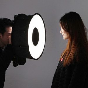 45cm 휴대용이 Softbox 카메라 플래시 기관총 스피드 라이트 라운드 스타일 라이트 촬영 소프트 박스 소프트 라이트 DSLR 카메라 액세서리 T191025