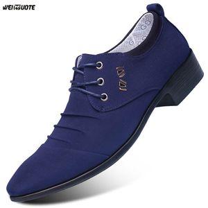 WEINUOTE Casual Chaussures En Cuir Pour Hommes Mâle Bout Pointu Chaussures Habillées Hommes Plat Oxford Chaussures Habillées Hommes D'affaires À Lacets De Mariage