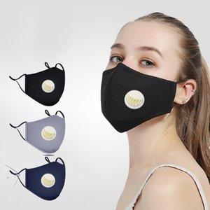Masque réutilisable visage avec PM2.5 Remplacement du filtre en tissu lavable pièce Masque visage avec flexible réglable earloops