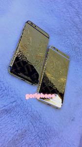 Nueva Buena Calidad Marco Medio Carcasa de la Puerta Trasera para iphone 6 / 6s más 24k Real Gold Chasis Contraportada con diseño de leopardo león
