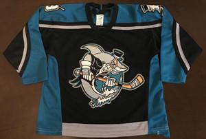 jersey personnalisé 5XL 6XL Personnaliser 2019 Cleveland Barons Shark Hockey Jersey broderie Cousu un nombre et chandails de nom et la taille