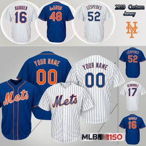 20 Pete Alonso New Jersey York Mets 48 Jacob deGrom 17 Keith Hernandez 18 Darryl Strawberry 6 Jeff McNeil hommes personnalisés maillots de base-ball