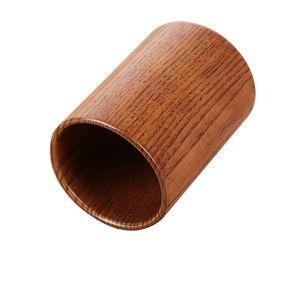 Pure natural wood barrel can be used as kitchen chopstick holder desk pen holder bamboo stick bucket creative DIY