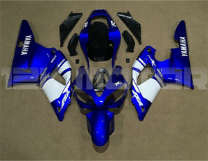 Hot sales New ABS Motorcycle fairings kits Fit for YAMAHA YZF-R1 2000 2001 R1 00-01 Fairing set Free custom Blue White