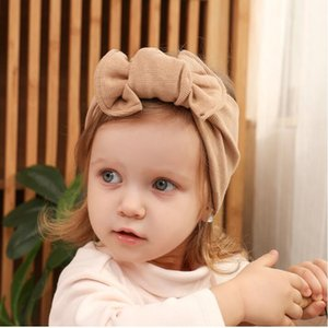 Fashion Baby Girl Big Bow Hair Band Cotton Soft Elastic Bow Hair Headband Child Princess Headband 13 Colors
