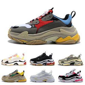 роскошь 2020 тройные s дизайнера обувь для мужчин женщин платформ кроссовок черных белых Разводят мужских тренеры спортивной моды кроссовок повседневной обувь