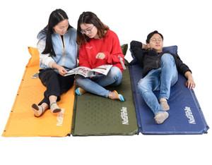 Atacado-Naturehike Auto Inflável Colchão de Dormir Colchão Com Travesseiro Self-Inflating Almofada de Dormir Dobrável Cama Tenda de Acampamento Único Esteira 201