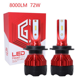 8000LM super lumineux turbo h1 h7 h11 h4 led lampe 12v 24v k5 phare avant de voiture h13 h7 9007 led ampoules 9004 90005