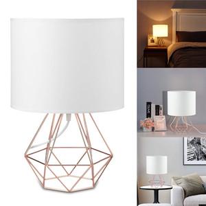 Геометрические кронштейны настольные лампы E27 Лампа настольные декоративные ретро тенистовые светильники подсветки при прицелом домашнее освещение для спальни гостиной