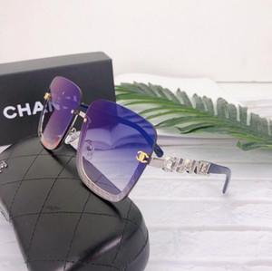 new Sunglasses women men Brand Designer Metal Frame Unique Hexagonal Flat lens Coating uv400 Sun glasses Goggle Eyewear