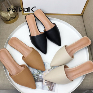 Brand Slippers Women Mules Shoes Women Slides Ladies Home Slippers Women's Slides Female Mules Flats Shoes Ladies Fashion Shoes SH190925