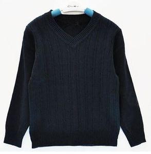 Новая мода Brand Kids свитер Детская одежда высокого качества весна / осень школа мальчиков и девочек детей Поло Верхняя одежда Пуловеры
