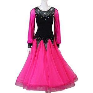 Gong Yan manches danse moderne robe de bal Salle de bal de danse Danse regrouperons Pendulum Jupe Waltz Dance Show match Serve