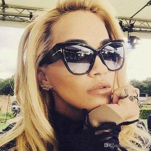 New Gradient Points Sun Glasses High Fashion Designer Brands For Women Cat Eye Sunglasses Cateyes Oculos Feminino De Sol
