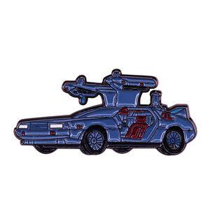 Back to the Future - DeLorean Brooch 80s Car New Wave Sci-fi Movie Fans Accessory