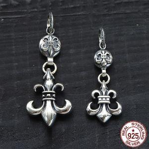 100% s925 sterling silver pendant personalidade moda clássico jóias estilo punk em forma de cruz 2019 novo presente para enviar amante