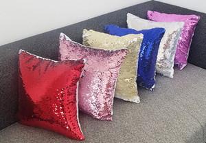 Una sola cara en blanco de lentejuelas almohada almohada de transferencia térmica de bricolaje de impresión fotográfica Suministros semielaborados almohada almohada almohada mágica EEA935-1