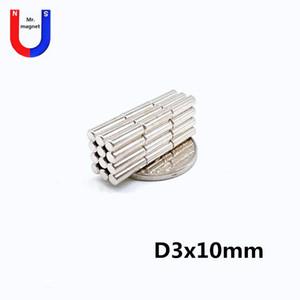 100pcs Hot vente petit disque 3x10 3 * 10 mm aimant NdFeB D3x10mm aimant terre rare 3mmx10mm 3 * 10 aimant néodyme NdFeB 3x10mm envoi gratuit