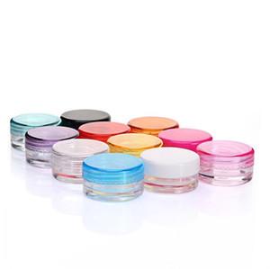 Пластиковые контейнеры Wax Jar Box Случаи 3 мл и 5 мл Емкость Косметика Box 11 цветов Крем для лица чехол для хранения