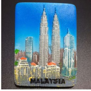 Magnetic New Malaysia Gift Kuala 1PC Towers Decorative Lumpur Sticker Twin Souvenirs Tourist Refrigerator Magnet Petronas Fridge Cgpjd