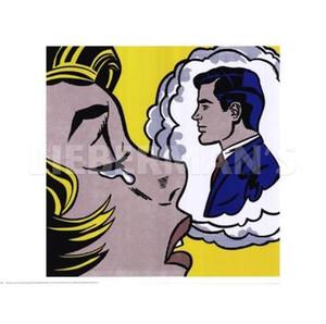 Думая о нем Рой Лихтенштейн Ручная роспись HD Print POP ART Абстрактное искусство Картина маслом Wall Art Home Decor На Холсте Высокого Качества ry14