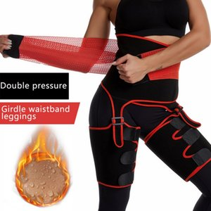 Siamese Waist Belts Slimming Leg Shaper Warmer Slender Shaping Legs Belts Fat Burning Wraps Thermo Compressor Shapers