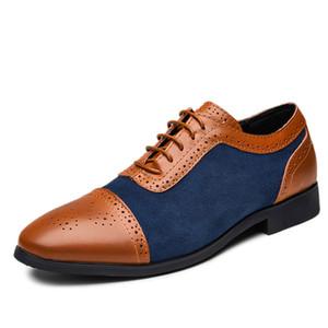 Scarpe da uomo d'2020 NUOVO arrivo formale di business Scarpe Uomo Vitage design Lace-Up Leather Shoes